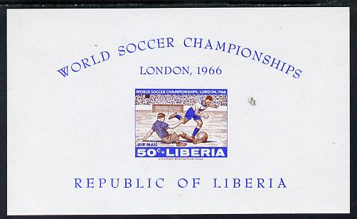 Liberia 1966 Football World Cup imperf m/sheet unmounted mint as SG MS 943
