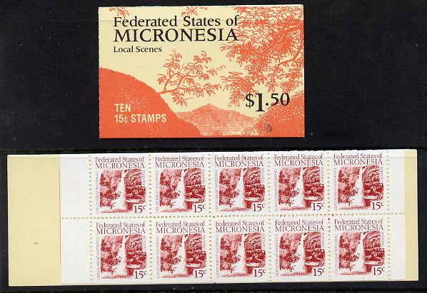 Booklet - Micronesia 1988 $1.50 booklet complete and find SG SB1