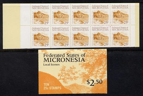 Booklet - Micronesia 1988 $2.50 booklet complete and find SG SB3
