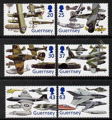Guernsey 1998 80th Anniversary of Royal Air Force set of 6 unmounted mint SG 774-79