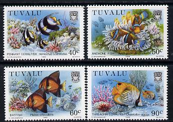 Tuvalu 1989 Coral Reef Life - 3rd series perf set of 4 unmounted mint SG 558-61