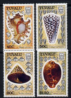 Tuvalu 1991 Sea Shells perf set of 4 unmounted mint SG 597-600