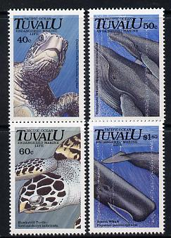 Tuvalu 1991 Endangered Marine Life perf set of 4 unmounted mint SG 605-8