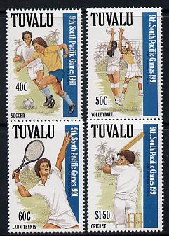 Tuvalu 1991 South Pacific Games perf set of 4 unmounted mint SG 609-12