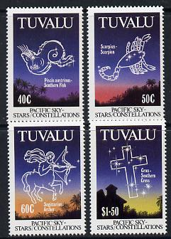 Tuvalu 1992 Pacific Star Constellations set of 4 unmounted mint SG 621-4