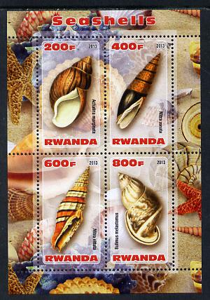 Rwanda 2013 Shells perf sheetlet containing 4 values unmounted mint
