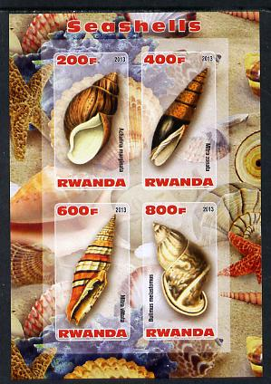 Rwanda 2013 Shells imperf sheetlet containing 4 values unmounted mint