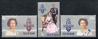 Isle of Man 1977 Silver Jubilee set of 3 unmounted mint, SG 94-96