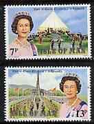 Isle of Man 1979 Royal Visit set of 2, SG 156-57 unmounted mint