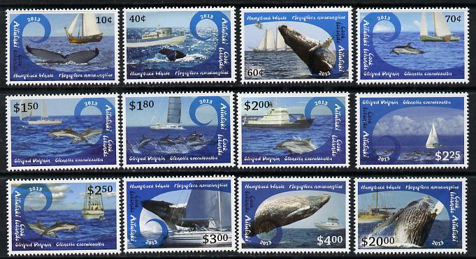 Cook Islands - Aitutaki 2013 Whales & Ships definitive perf set of 12 values unmounted mint