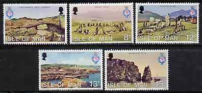 Isle of Man 1980 150th Anniversary of Royal Geographical Society set of 5 unmounted mint, SG 165-69