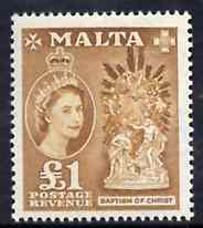 Malta 1957 Baptism of Christ \A31 unmounted mint (from def set) SG 282
