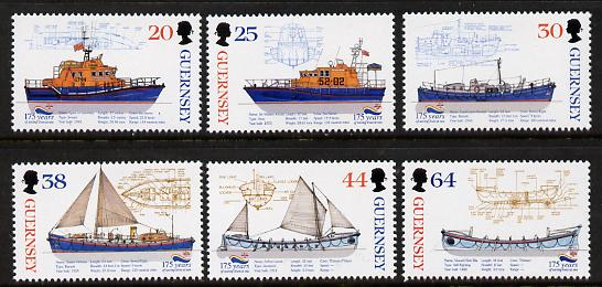Guernsey 1999 175th Anniversary of Royal National Lifeboat Institution set of 6 unmounted mint SG 827-32