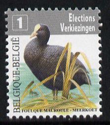 Belgium 2010-14 Birds - Eurasian Coot (28c) European 1st Class unmounted mint