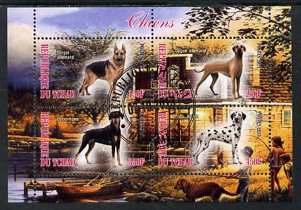 Chad 2013 Dogs #2 perf sheetlet containing 4 values fine cto used