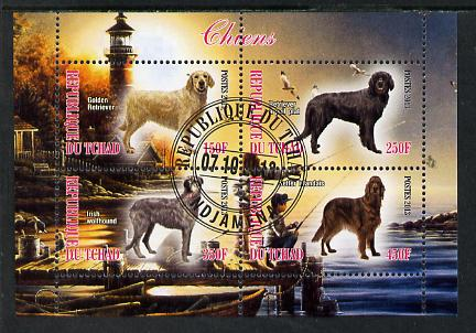 Chad 2013 Dogs #3 perf sheetlet containing 4 values fine cto used