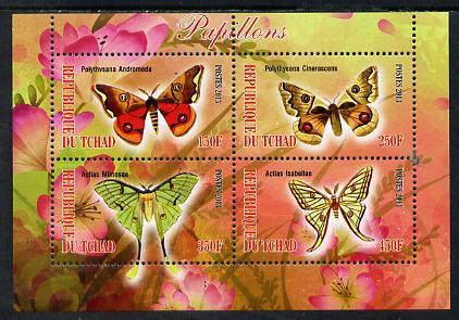 Chad 2013 Butterflies #07 perf sheetlet containing 4 values unmounted mint