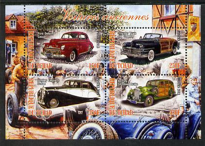 Chad 2013 Early Cars #2 perf sheetlet containing 4 values unmounted mint