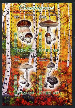 Chad 2013 Fungi #1 perf sheetlet containing 4 values unmounted mint