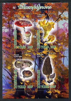Chad 2013 Fungi #2 perf sheetlet containing 4 values unmounted mint