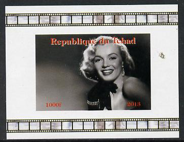 Chad 2013 Marilyn Monroe #3 individual imperf deluxe sheetlet unmounted mint. Note this item is privately produced and is offered purely on its thematic appeal.