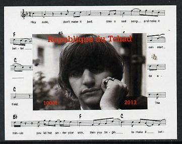 Chad 2013 The Beatles - Ringo Starr #2 individual imperf deluxe sheetlet unmounted mint. Note this item is privately produced and is offered purely on its thematic appeal.