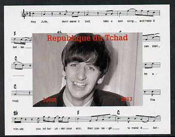 Chad 2013 The Beatles - Ringo Starr #3 individual imperf deluxe sheetlet unmounted mint. Note this item is privately produced and is offered purely on its thematic appeal.