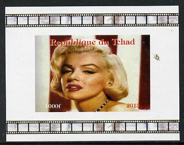 Chad 2013 Marilyn Monroe #5 individual imperf deluxe sheetlet unmounted mint. Note this item is privately produced and is offered purely on its thematic appeal.