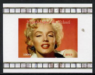 Chad 2013 Marilyn Monroe #6 individual imperf deluxe sheetlet unmounted mint. Note this item is privately produced and is offered purely on its thematic appeal.
