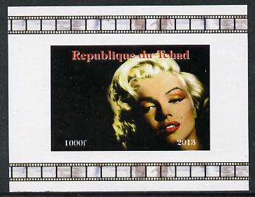 Chad 2013 Marilyn Monroe #7 individual imperf deluxe sheetlet unmounted mint. Note this item is privately produced and is offered purely on its thematic appeal.