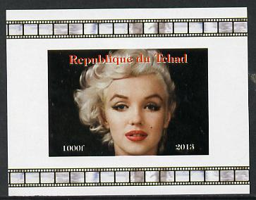 Chad 2013 Marilyn Monroe #8 individual imperf deluxe sheetlet unmounted mint. Note this item is privately produced and is offered purely on its thematic appeal.
