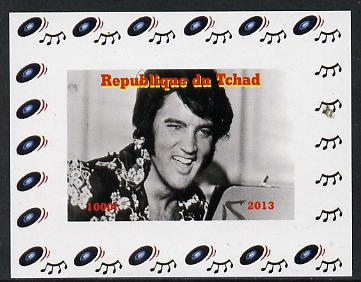 Chad 2013 Elvis Presley #02 individual imperf deluxe sheetlet unmounted mint. Note this item is privately produced and is offered purely on its thematic appeal.