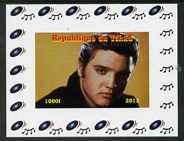 Chad 2013 Elvis Presley #05 individual imperf deluxe sheetlet unmounted mint. Note this item is privately produced and is offered purely on its thematic appeal. , stamps on personalities, stamps on elvis, stamps on pops, stamps on music, stamps on rock, stamps on films, stamps on movies, stamps on cinema