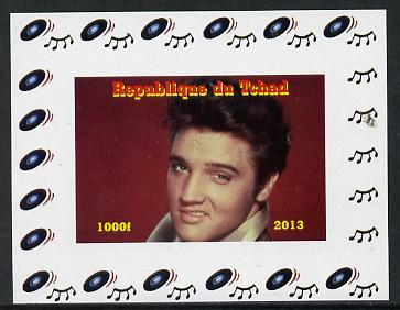 Chad 2013 Elvis Presley #06 individual imperf deluxe sheetlet unmounted mint. Note this item is privately produced and is offered purely on its thematic appeal.