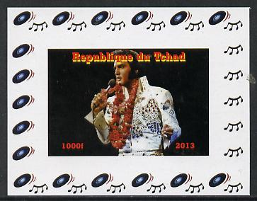 Chad 2013 Elvis Presley #08 individual imperf deluxe sheetlet unmounted mint. Note this item is privately produced and is offered purely on its thematic appeal.