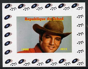 Chad 2013 Elvis Presley #09 individual imperf deluxe sheetlet unmounted mint. Note this item is privately produced and is offered purely on its thematic appeal.