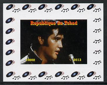 Chad 2013 Elvis Presley #11 individual imperf deluxe sheetlet unmounted mint. Note this item is privately produced and is offered purely on its thematic appeal.