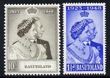 Basutoland 1948 KG6 Royal Silver Wedding perf set of 2 unmounted mint, SG 36-37