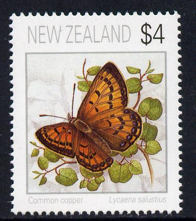 New Zealand 1991 Butterflies $4 Common Copper unmounted mint SG 1643