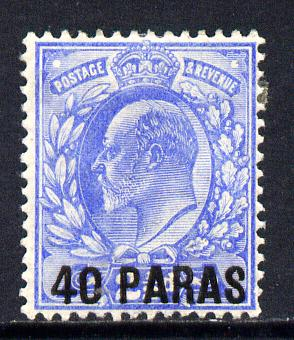 British Levant 1902-05 40pa on KE7 2.5d ultramarine mounted mint SG 8