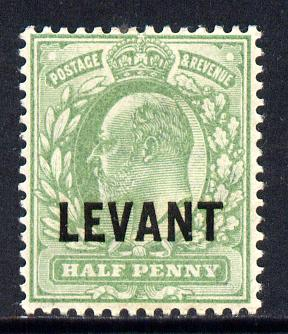 British Levant 1905-12 LEVANT opt on KE7 1/2d green mounted mint SG L1