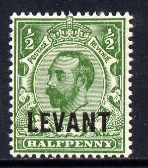 British Levant 1911-13 LEVANT opt on KG5 1/2d green mounted mint SG L12
