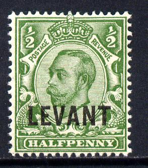 British Levant 1911-13 LEVANT opt on KG5 1/2d green mounted mint SG L14