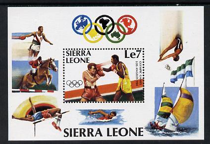 Sierra Leone 1984 Los Angeles Olympics perf m/sheet (Boxing) unmounted mint, SG MS 791