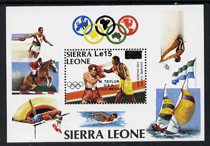 Sierra Leone 19854 Los Angeles Olympics Gold Medal Winners perf m/sheet (Boxing) unmounted mint, SG MS 884