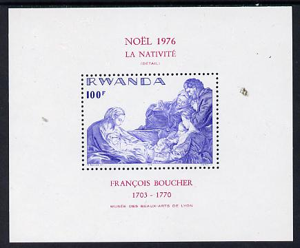 Rwanda 1976 Christmas perf m/sheet unmounted mint, SG MS 792