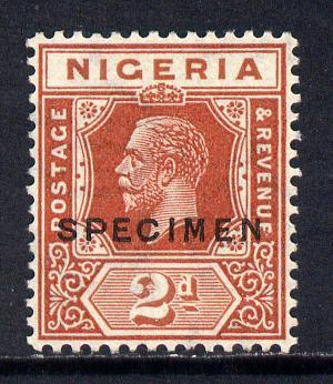 Nigeria 1921-32 KG5 Script CA 2d chestnut opt