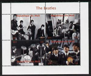 Mali 2014 The Beatles #2 perf sheetlet containing 4 values unmounted mint. Note this item is privately produced and is offered purely on its thematic appeal