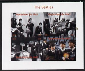 Mali 2014 The Beatles #2 imperf sheetlet containing 4 values unmounted mint. Note this item is privately produced and is offered purely on its thematic appeal, it has no postal validity