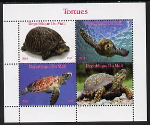 Mali 2014 Turtles perf sheetlet containing 4 values unmounted mint. Note this item is privately produced and is offered purely on its thematic appeal